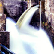 Spillway On The Canal Poster