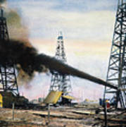 Spindletop Oil Pool, C1906 Poster