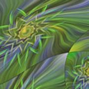 Spinning Star Tiles Poster