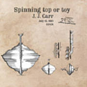 Spinning Top Or Toy Patent Art Poster