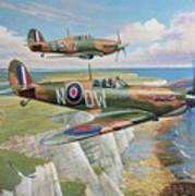 Spitfire And Hurricane 1940 Poster