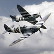 Spitfire Flying Legends Poster
