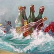 Splattered Wine Poster