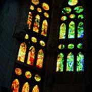 Splendid Stained Glass Windows Poster