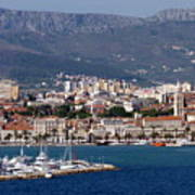 Split Croatia's Waterfront Poster