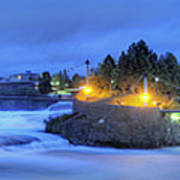 Spokane Falls Poster by Michael Gass