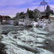 Spokane Pavilion Winter Poster