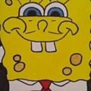 Sponge Square Yellow Brown Pants Cartoon Poster