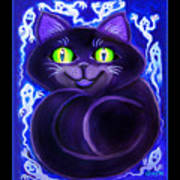 Spooky Cat Poster