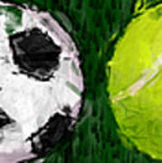 Sports Balls Abstract Poster by David G Paul