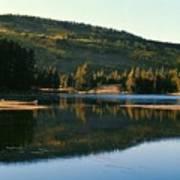 Sprague Lake At Dusk Rocky Mountain National Park Poster