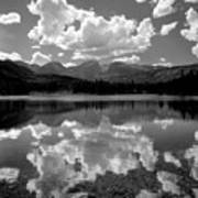 310204-bw-sprague Lake Reflect Bw  Poster