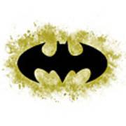 Spray Paint Batman Logo Poster