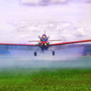 Spraying The Fields - Crop Duster - Aviation Poster