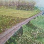 Spring At The Railroad Cut Gettysburg Poster