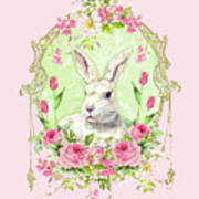 Spring Bunny Poster by Wendy Paula Patterson