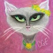 Spring Cat Poster