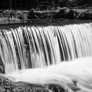Spring Falls At Hodgson Grayscale Poster