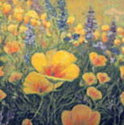 Spring Field Of Flowers Poster