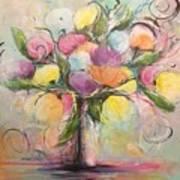 Spring Fling Flowers In A Vase Poster