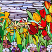 Spring Floral Mosaic Poster