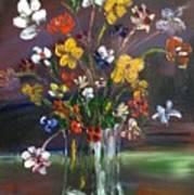 Spring Flowers In Vase Poster