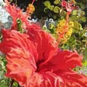 Spring Hibiscus Poster