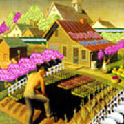 Spring In Townville Poster