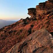 Spring Landscape, Gritstone Rock Formations, Stanage Edge Poster