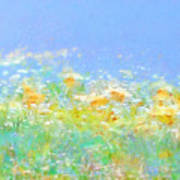 Spring Meadow Abstract Poster