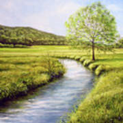 Spring On The Canal Poster