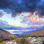 Spring Rain At Whitewater Canyon Poster