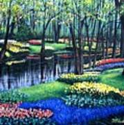 Spring Splendor Tulip Garden Poster