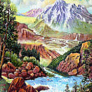 Spring Thaw High In The Rockies. Poster