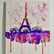 Spring Time. Paris. Eiffel Tower.  Poster