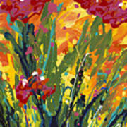 Spring Tulips Triptych Panel 1 Poster
