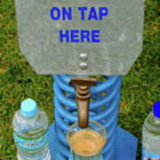 Spring Water On Tap Here Poster