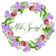 Spring Wreath Poster