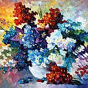Springs Smile - Palette Knife Oil Painting On Canvas By Leonid Afremov Poster
