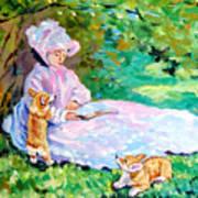 Springtime After Monet Poster