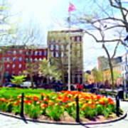 Springtime At Abingdon Square Park #2 Poster