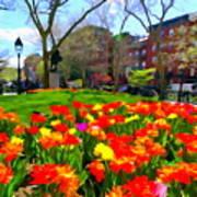 Springtime At Abingdon Square Park Poster