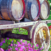 Springtime At V Sattui Winery St Helena California Poster by Michelle Wiarda