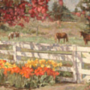 Springtime Horses Poster