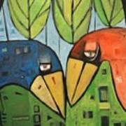 Springtime Lovebirds Poster