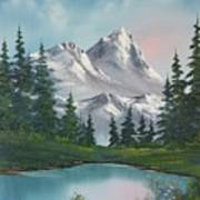 Springtime Mountain Poster