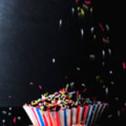 Sprinkles On Cup Cakes Poster