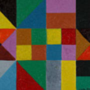 Squares And Triangles  Poster