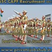 Ssc Capf Recruitment Poster