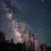 St. Aloysius Church Ruin Under The Stars Poster